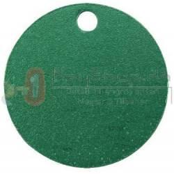 Grøn Letmetal id tags 25mm