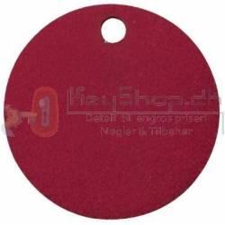 Rød Letmetal id tags 25mm