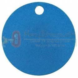 Blå Letmetal id tags 25mm