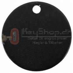 Sort Letmetal id tags 25mm INKL. FRAGT